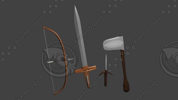 3D pack medieval