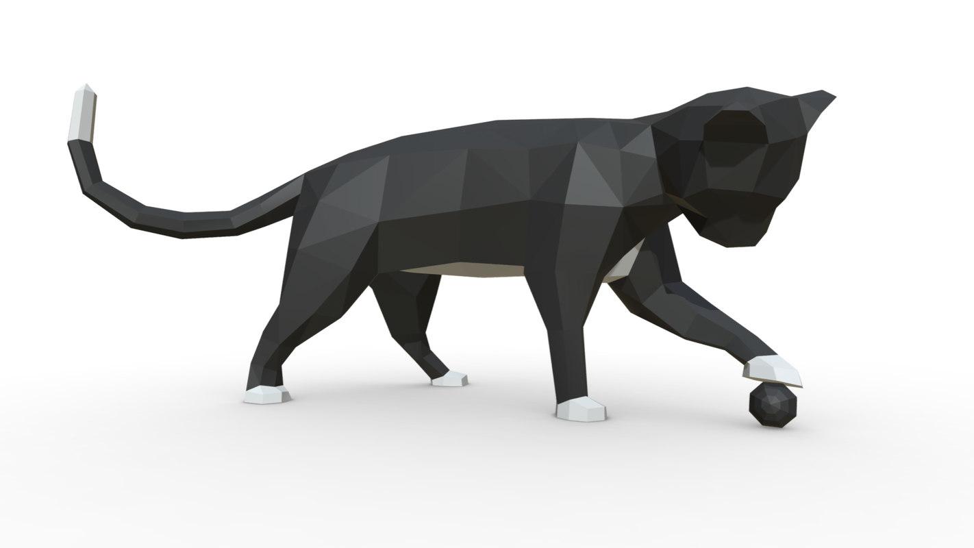 printed cat figure 3 3D model