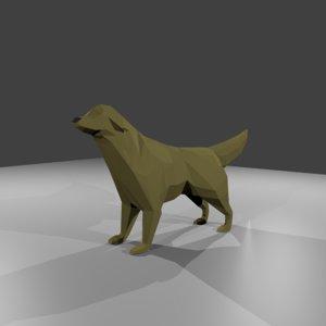 3D dog retriever animation nature