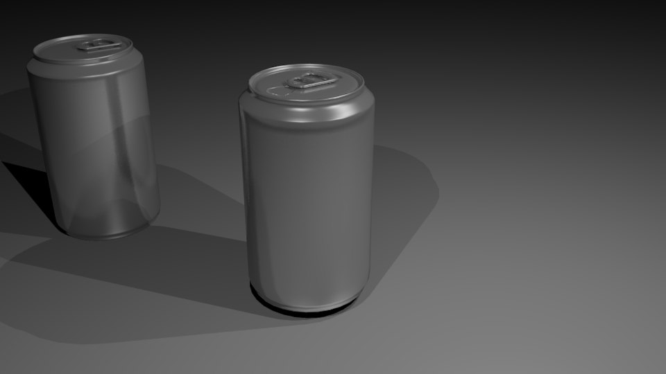 3D cans soda aluminium model