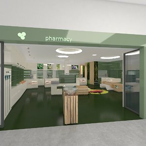 3D pharmacy center model