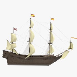 spanish galleon 3D