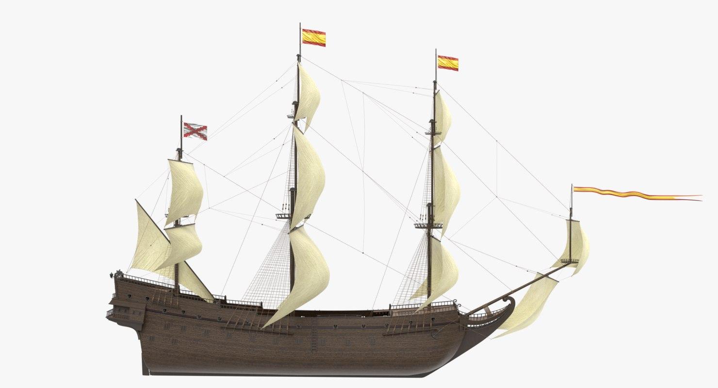 spanish galleon 3D