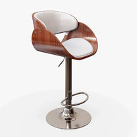 Almere White Bar Stool (Chair)