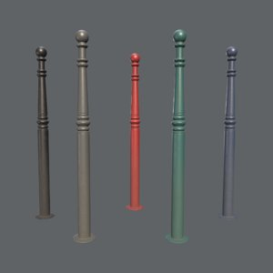 3D barrier bollard pack 1