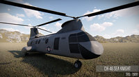 airplane ch-46 3D model