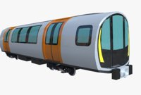 3D model glasgow subway car stadler