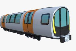 3D model glasgow subway car stadler