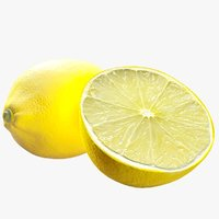 3D realistic lemon
