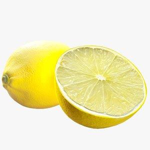 3D realistic lemon