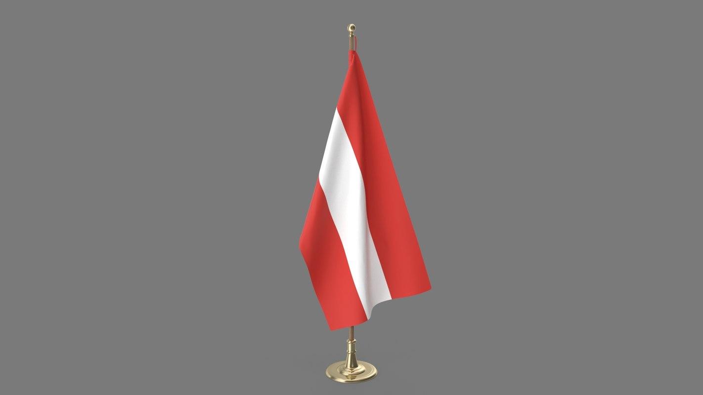 3D austria office flag