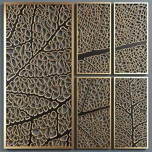 3D decorative partitions pattern