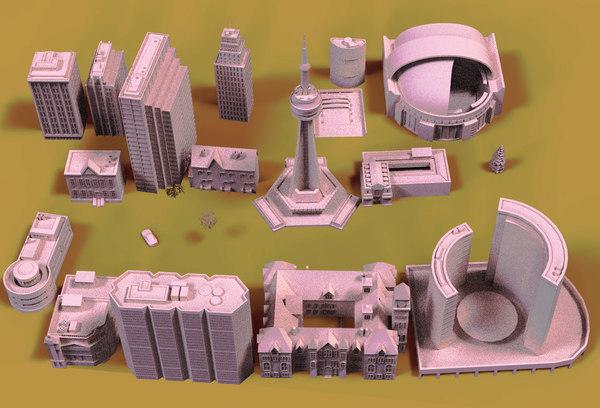 toronto buildings 3D