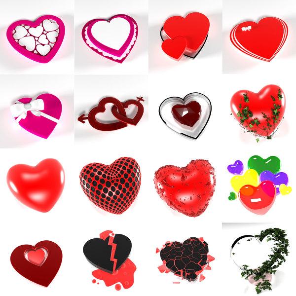 hearts 3D model