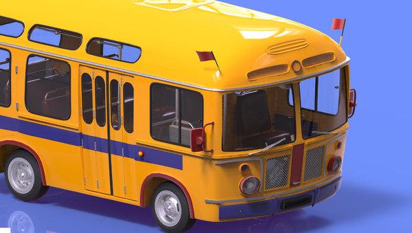 3d max cartoon bus autobus car