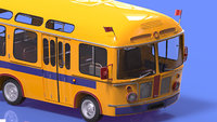 3d max cartoon bus autobus car