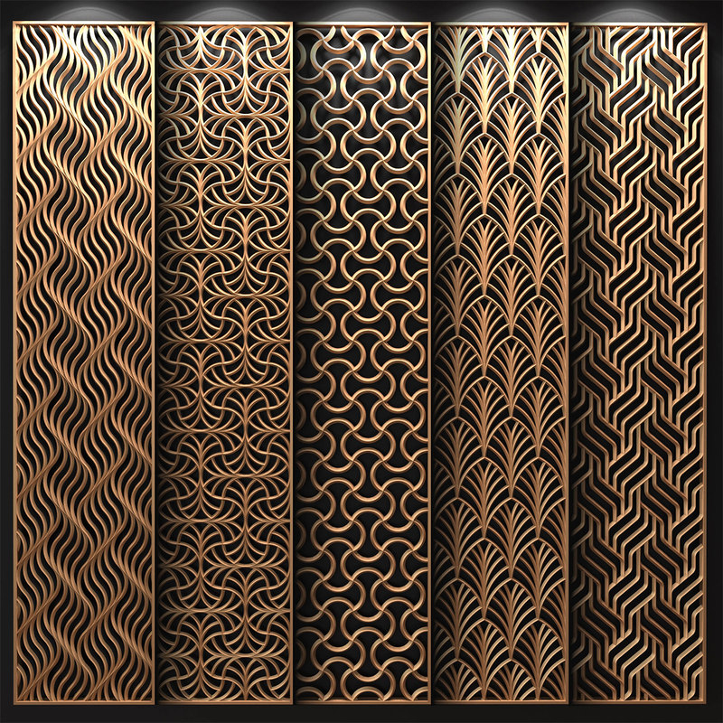3D Model Decorative Partitions Patterns