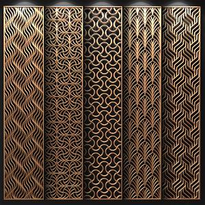 3D model decorative partitions patterns