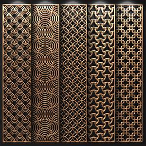 3D decorative partitions patterns