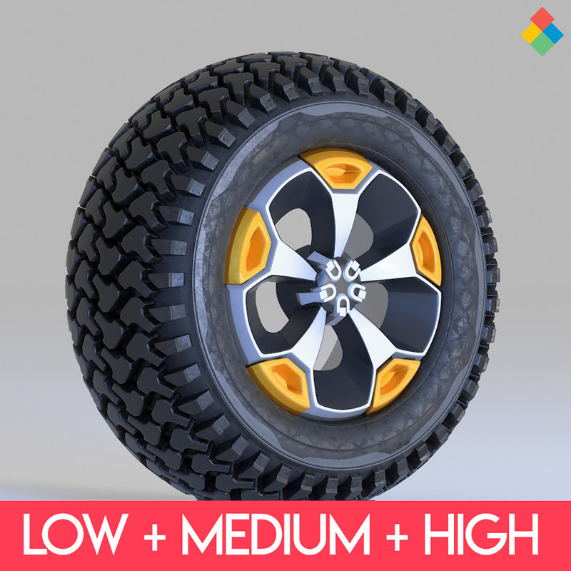 rim wheel tire 3D model