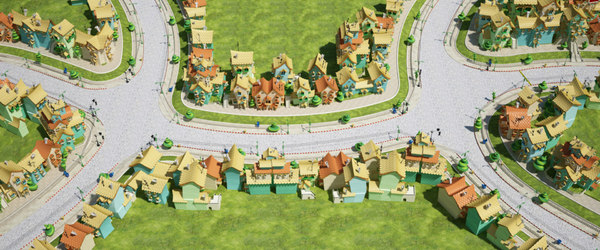 fantasy city houses 3D