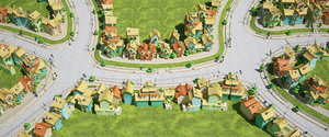 fantasy city houses 3D