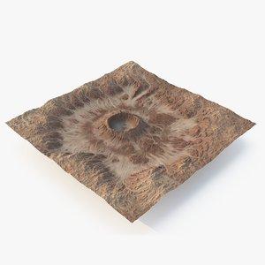 3D crater terrain - 3 model