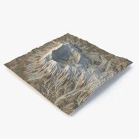 3D crater terrain - 4 model
