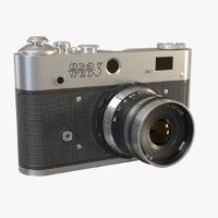 3D realistic vintage camera