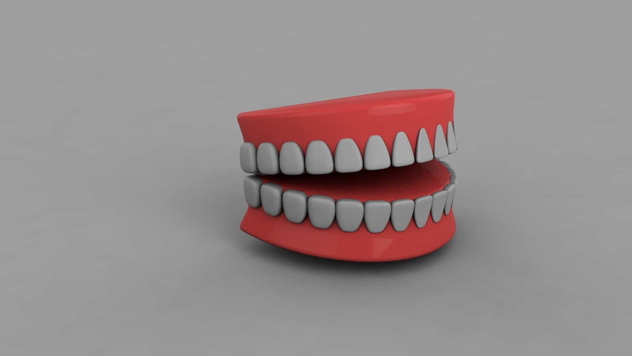 3D teeth editable animation model