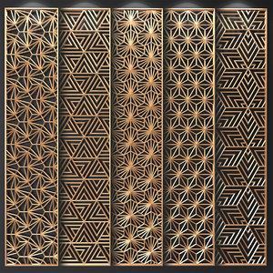 decorative partitions patterns 3D model