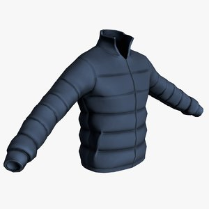 realistic jacket 3D model