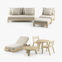 modern xvl malibu outdoor furniture 3D model