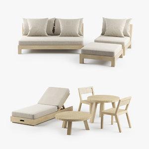 modern xvl malibu outdoor furniture 3D model