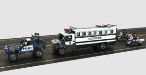police convoy prisoners 3D model