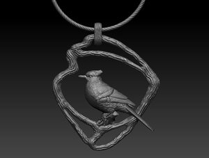 pendant platinum gold 3D model