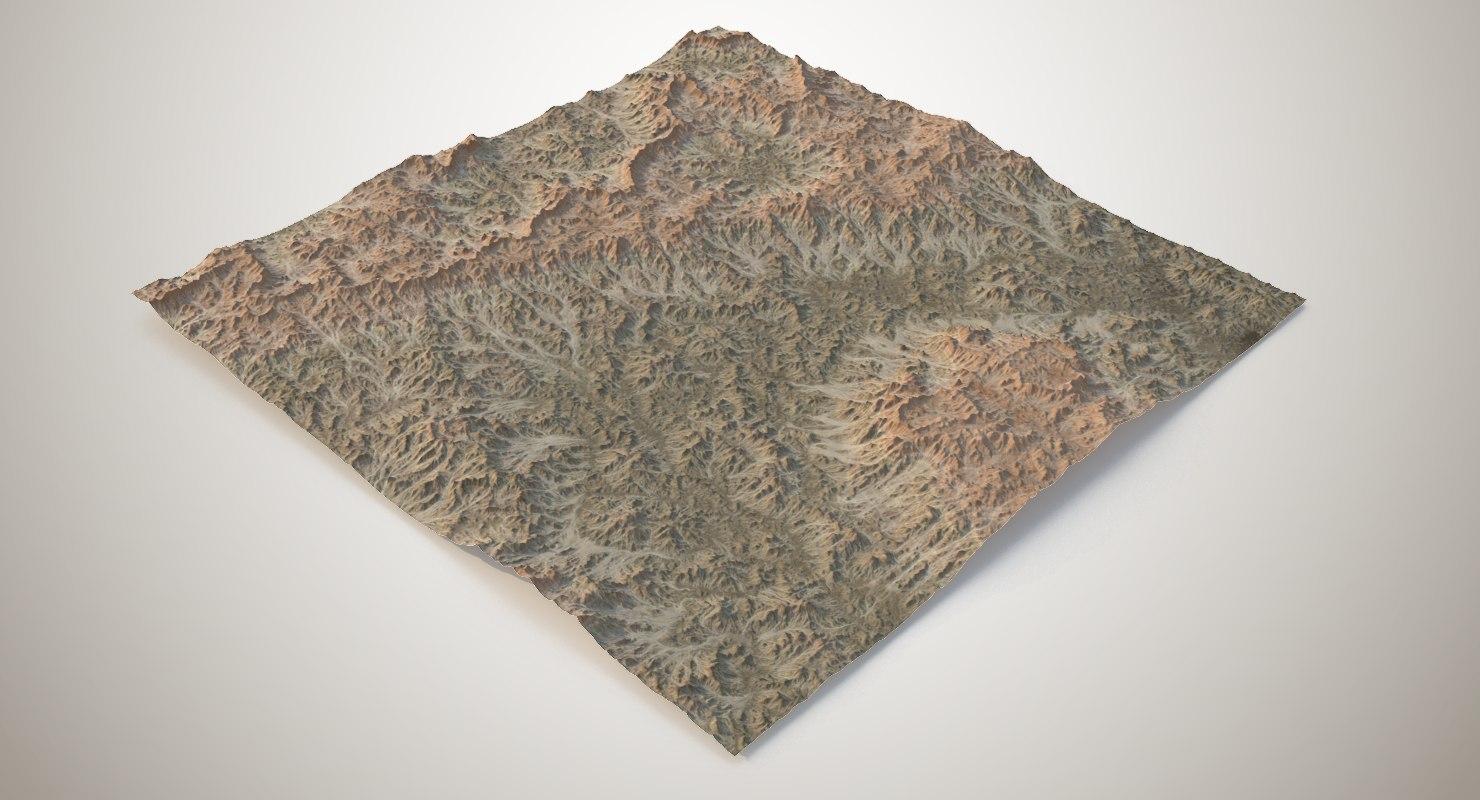 hills mountains terrain 3D model
