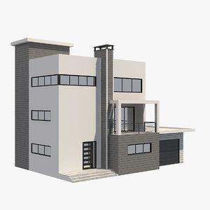 modern house 6 3D model