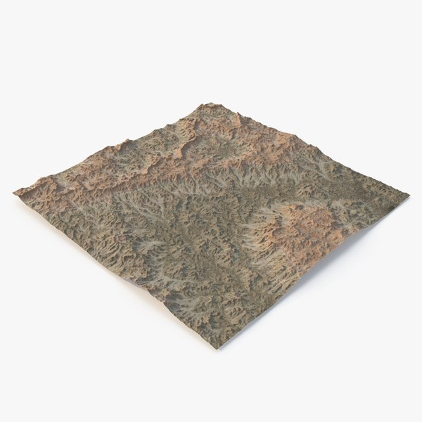 hills mountains terrain 3D model