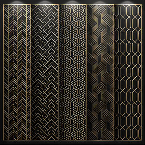 decorative partitions patterns 3D