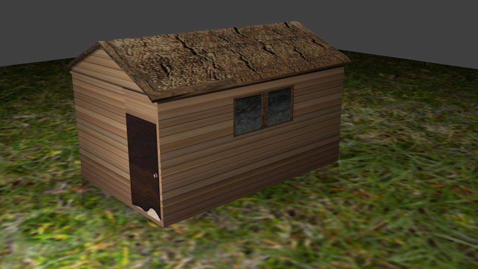 simple house wood model
