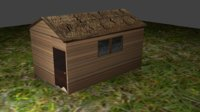 simple house wood model
