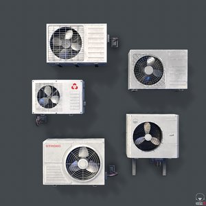 3D old air conditioner