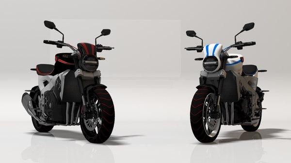 3D motorbike motor bike model