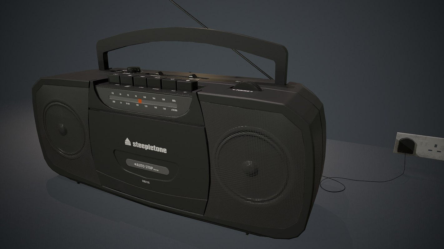 radio cassette player 3D