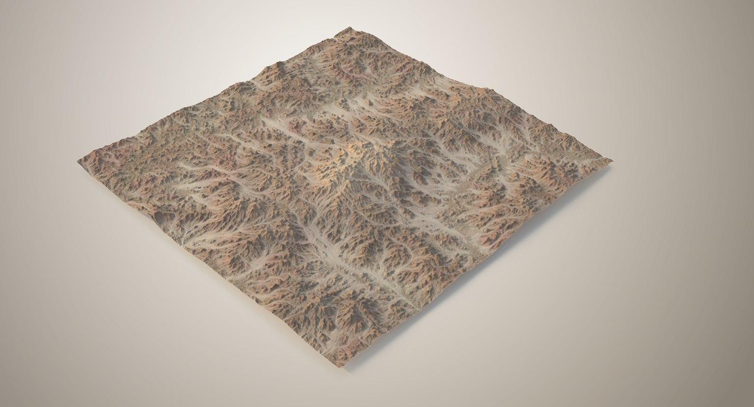 terrain desert landscape 3D