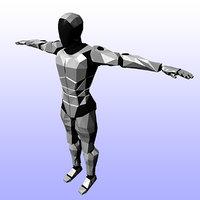 cyborg 3D model