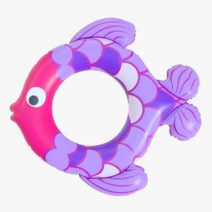 realistic float ring fish 3D model