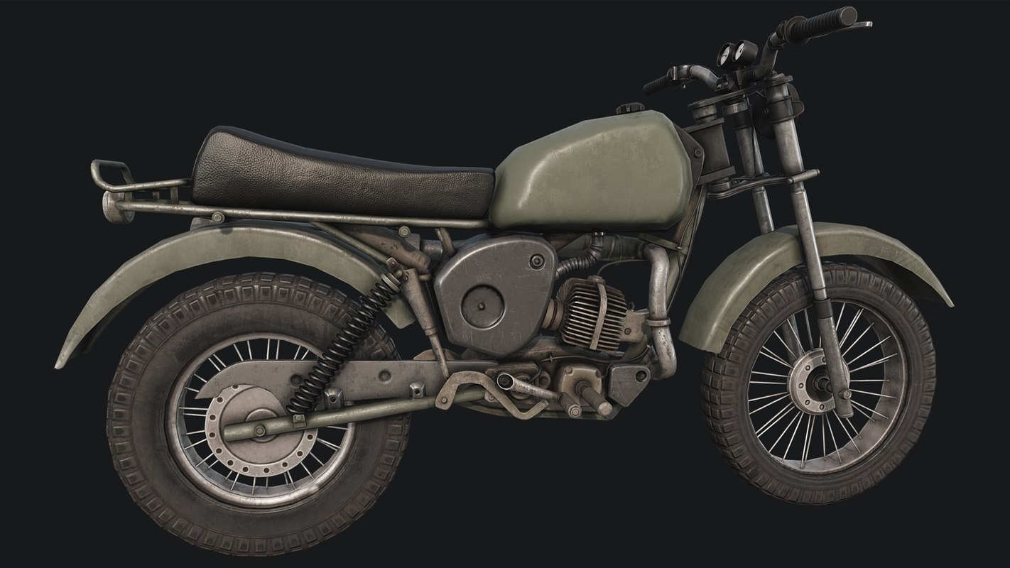 3D old motorcycle pbr vehicle