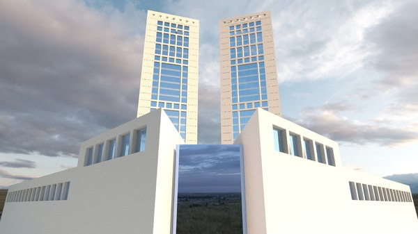 3D casablanca twin center model